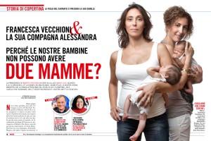 cover story oggi Francesca Vecchioni e Alessandra